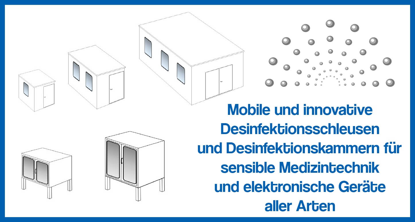 Mobile Desinfektionsschleusen