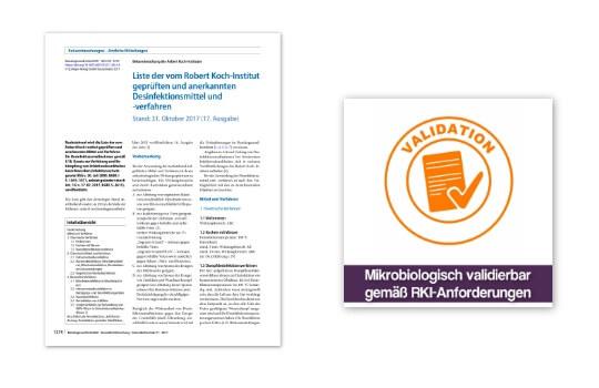 RKI anerkannte Desinfektionsverfahren